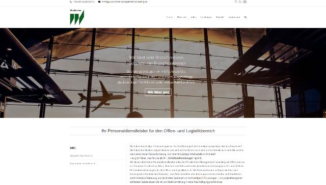 WMC Microsite Screenshot
