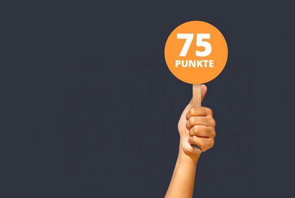 Alumniscore 75 Punkte