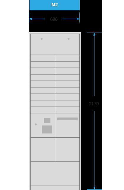 Schranksystem-M2 mit 686x2170