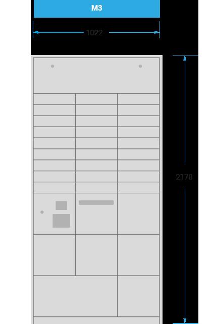 Schranksystem-M3 mit 1022x2170
