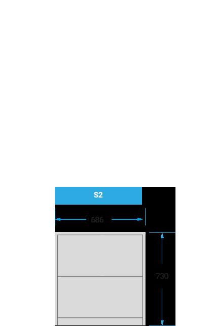 Schranksystem-S2 mit 686x730