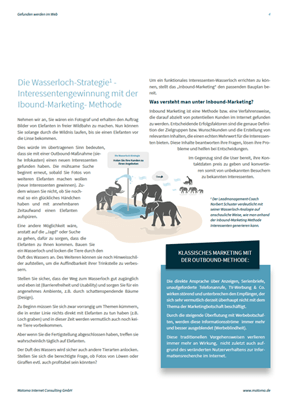 One-Pager-Interessengewinnung mit Wasserloch-Strategie