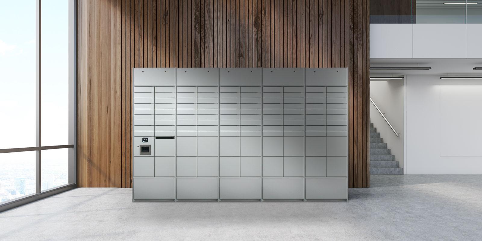 NetLocker-Schrank in einem Gebäude
